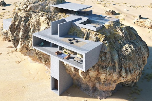 Merging Ancient Tombs With Minimal Architecture
