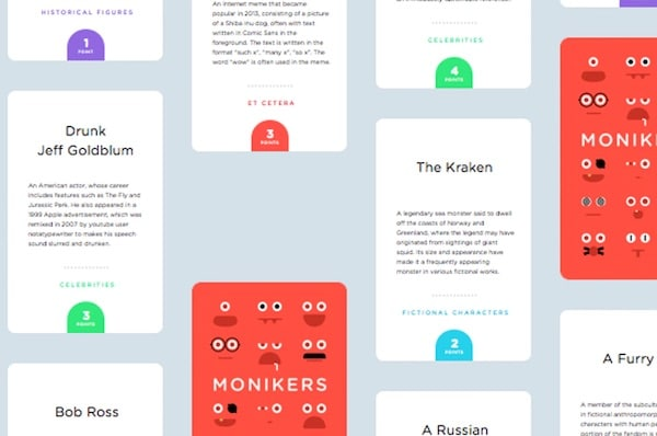 Monikers, A Party Game That Respects Your Intelligence
