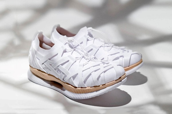 Inspired By Japanese Bamboo Weaving, Kengo Kuma's Shoes For ASICS Are Like 'Moving Architecture'
