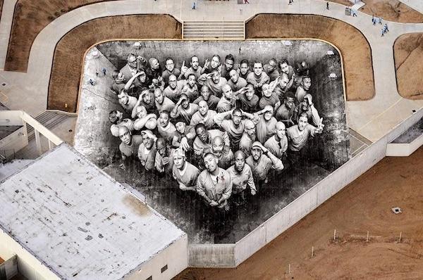 A Street Artist Creates Giant Mural In A Maximum Security Prison In California