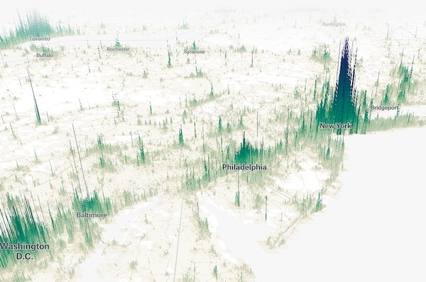 Human Terrain, Visualizing The World's Population In 3D