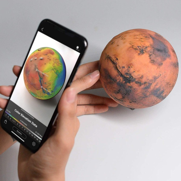 AstroReality Mars 3D Printed Model & Augmented Reality App