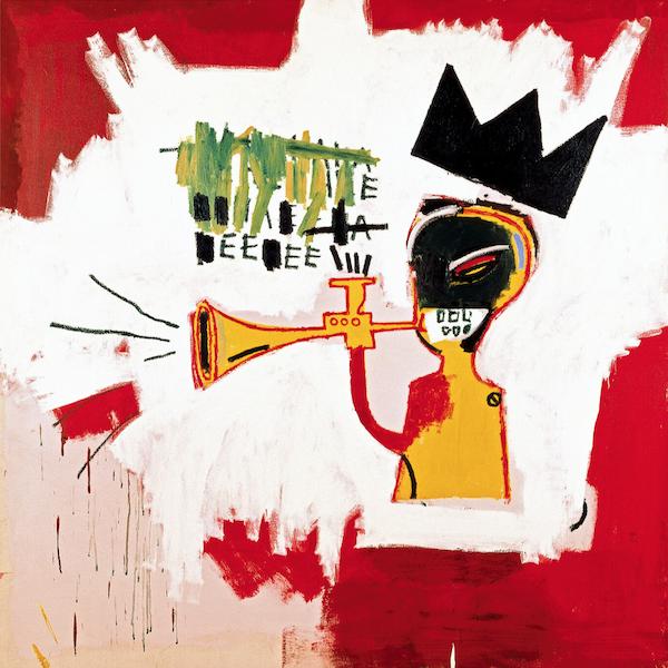 Basquiat: Trumpet Framed Print