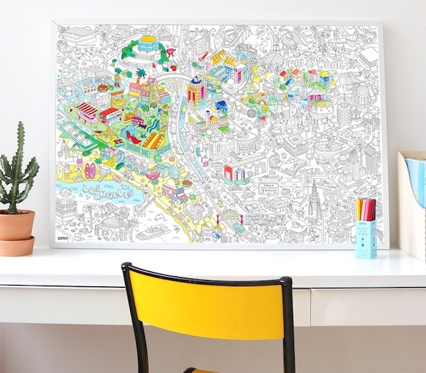 Giant Coloring Poster: LA, NYC, San Francisco & More