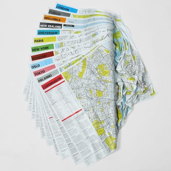Crumpled Indestructible Waterproof City Maps