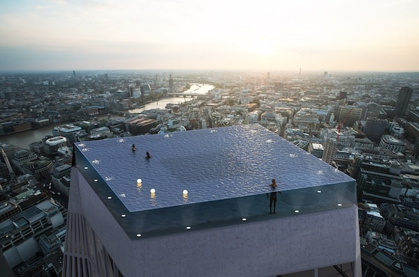 World's First 360-Degree Infinity Pool Proposed For London Skyline