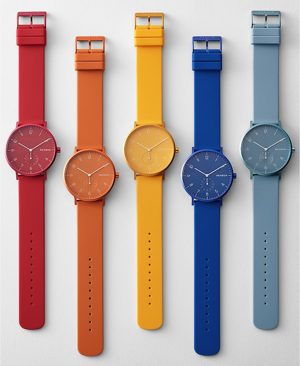 Skagen Aaren Colored Silicone 41mm Watch
