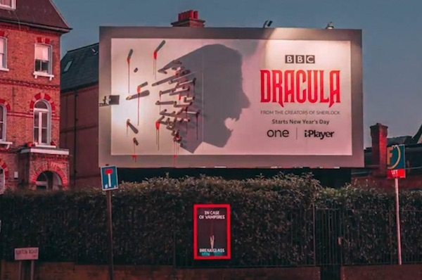 Dracula Bosses Erect Billboard That Comes To Life At Night