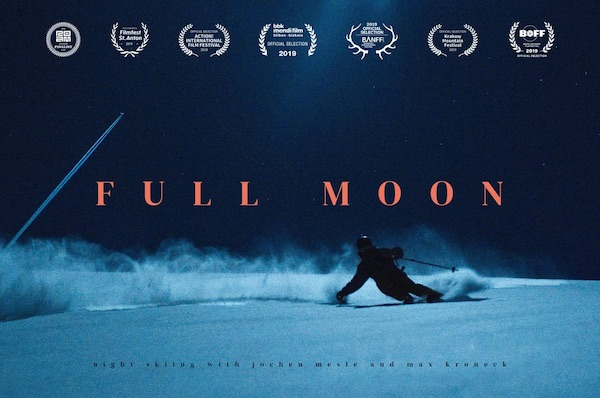 """Full Moon"", Night Skiing Without Artificial Light"