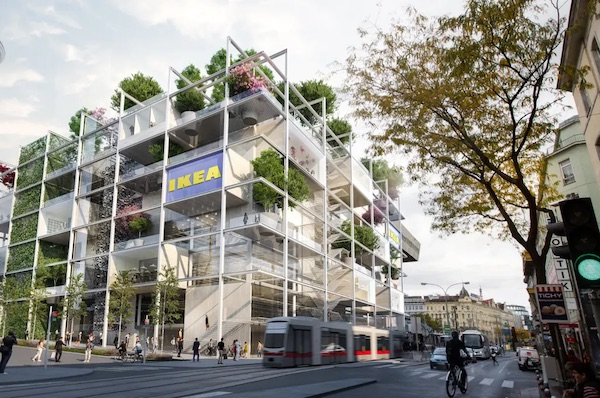 New IKEA Store In Vienna Omits Parking And Celebrates Nature