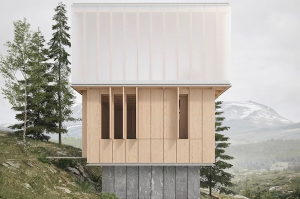 'Vertical Bath' By James Barber Houses Three-Story Sauna In Norwegian Alps