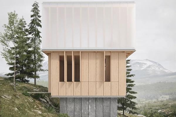 'Vertical Bath' By James Barber Houses Three-Story Sauna In Norwegian Alps