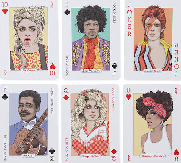 Music Star Portraits Playing Cards