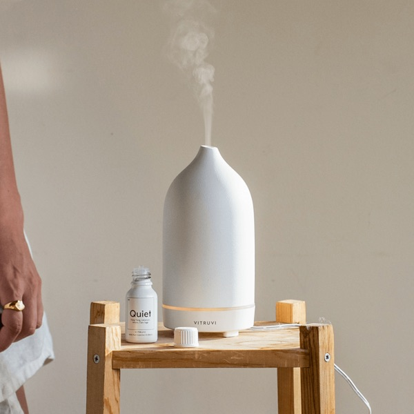 Vitruvi Ceramic Ultrasonic Oil Diffuser For Aromatherapy