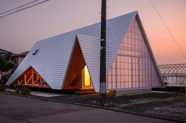 A Minimalist Home In Japan Utilizes A Tent Structure With Open Air Sides