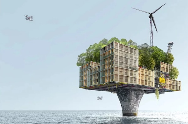 XTU Architects Imagines Offshore Oil Rigs Transformed Into Radical Housing Of The Future
