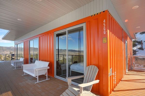 A Mid-Century Modern Shipping Container Home
