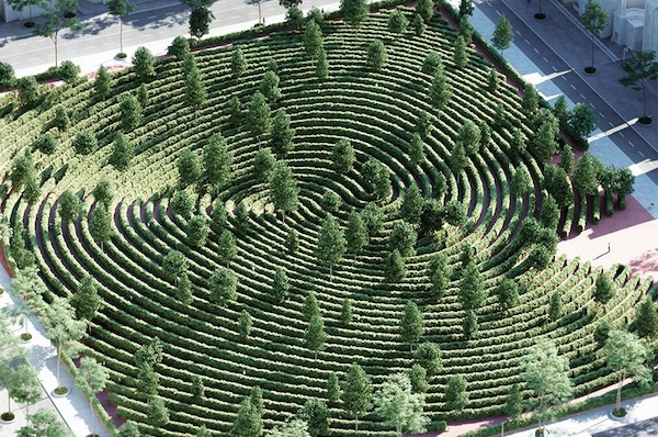 Studio Precht Designs A Fingerprint-Shaped Park For Physical Distancing