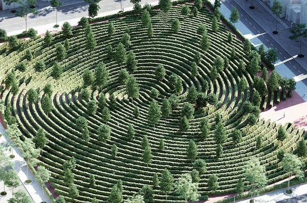 Studio Precht Designs A Fingerprint-Shaped Park For Physical Distancing