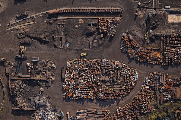 Bernhard Lang Captures Aerial Views Of Germany's Steel Heartlands