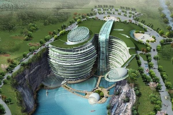 Shanghai's Underwater Quarry Hotel
