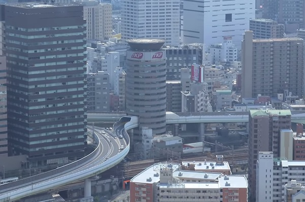 Osaka's Gate Tower: Highway Through A Building