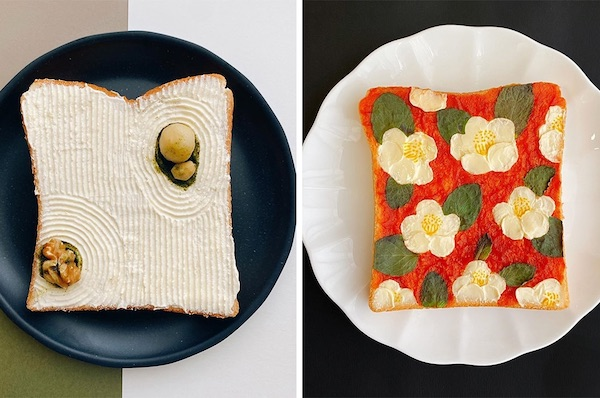 Artist Creates Daily Toast Designs Inspired By Japanese Traditions