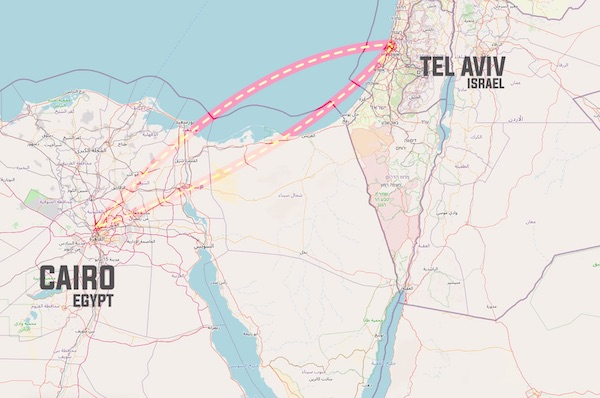 The One Route Ghost Airline Between Egypt & Israel